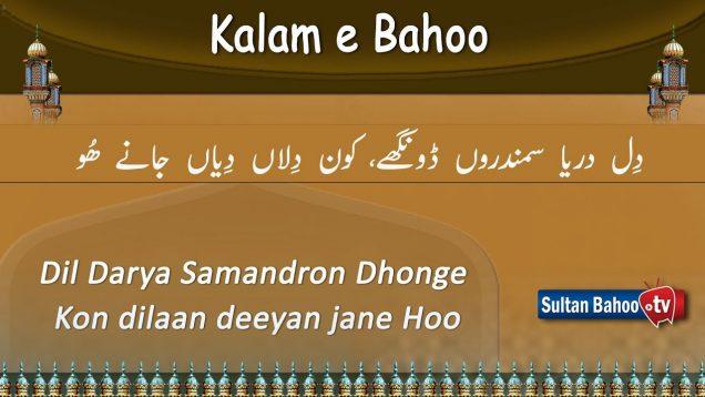 Kalam e Bahoo – Dil Darya Samandron Dhonge Kon dilaan deeyan jane Hoo