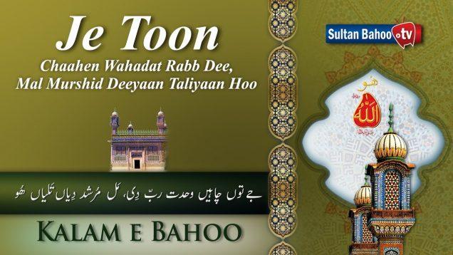 Kalam e Bahoo | Je Toon Chaahen Wahadat Rabb Dee Mal  | 53