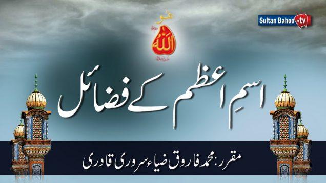 Speech: Ism e Azam kay Fazail