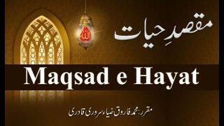 Speech: Maqsad e Hayat