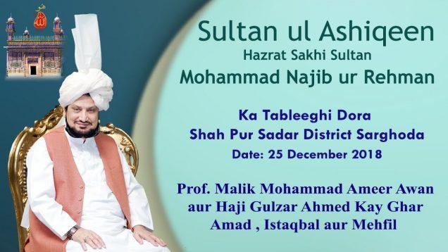 Sultan Bahoo   Sultan ul Ashiqeen Ka Tableeghi Dora Shahpur Saddar Sargodha, Punjab