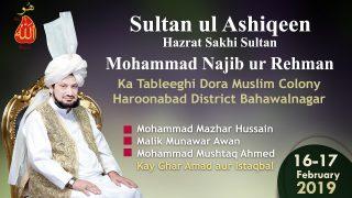 Sultan ul Ashiqeen ka Tableeghi Dora Muslim Colony Haroonabad District Bahawalnagar