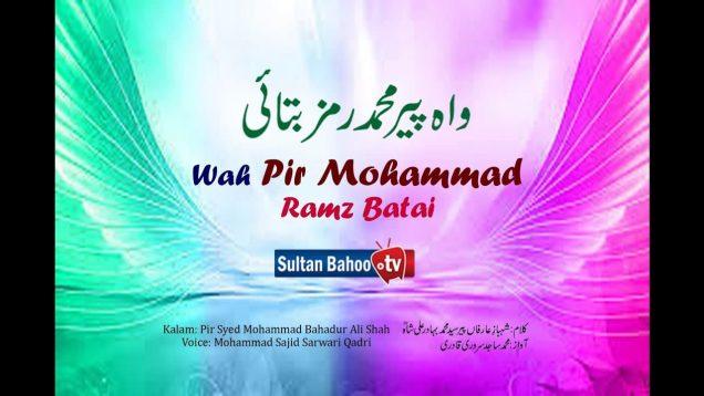 Kalam Pir Bahadur Ali Shah | Wah Pir Mohammad Ramz Batai